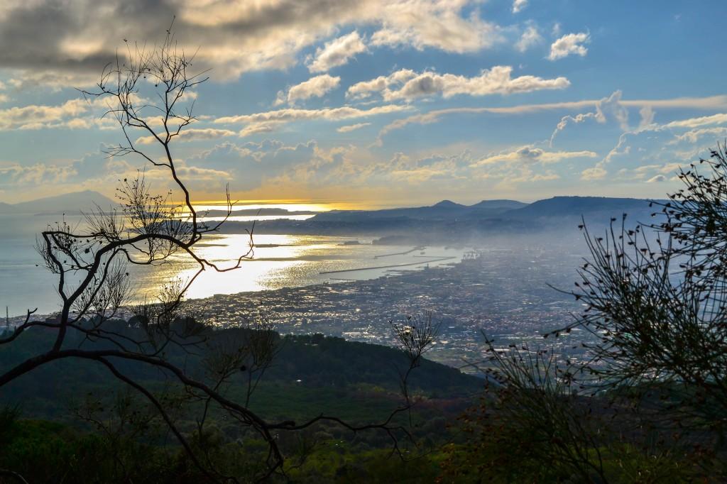 Bay of Naples from Mount Vesuvius