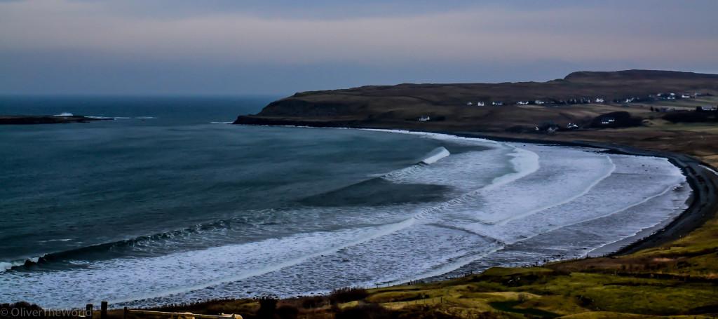 Staffin Bay Under Northern Swell