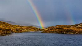 Rainbow over the Lochan